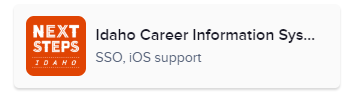 Idaho Career Information System (SSO, iOS support)